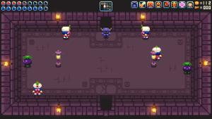 Later rooms contain multiple enemies of different types and some dungeon mechanisms too.