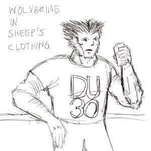 Wolverine in sheep's clothing #sketchdaily 81/365