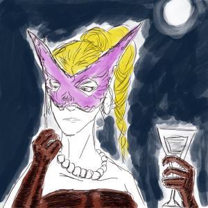 Moonlit masquerade #sketchdaily 83/365