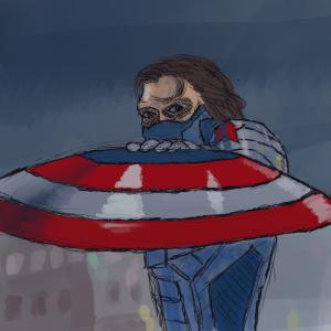 Winter Soldier #sketchdaily 85/365 #procreate #Marvel #comicbooks