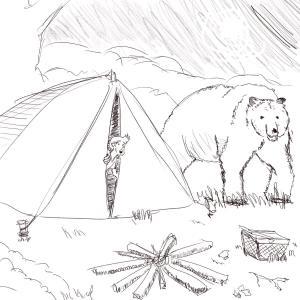 Camping #sketchdaily 108/365