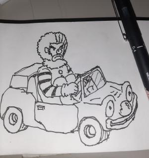 Clown car #sketchdaily 110/365