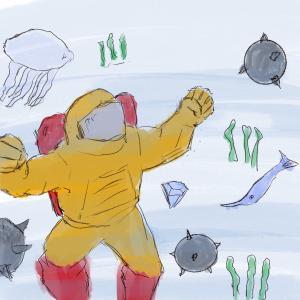 Diver #sketchdaily 112/365