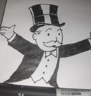 Rich uncle pennybags #sketchdaily 119/365