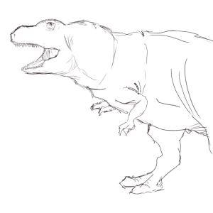T-rex 133/365 #sketchdaily (Correction: 134/365)