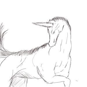 Unicorn 134/365 #sketchdaily (Correction: 135/365)