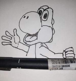 Yoshi #sketchdaily 138/365 (Correction: 139/365)