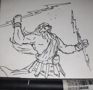 Zeus #sketchdaily 139/365 (Correction: 140/365)
