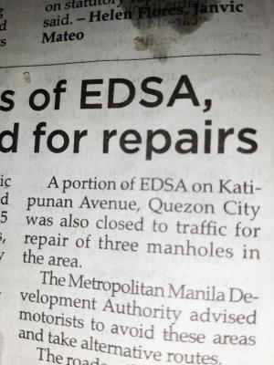 Trying to figure out what portion of EDSA is on Katipunan