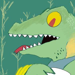 Creepy lizard guy #sketchdaily 147/365 (Correction: 148/365)