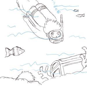 Sunken treasure #sketchdaily 154/365