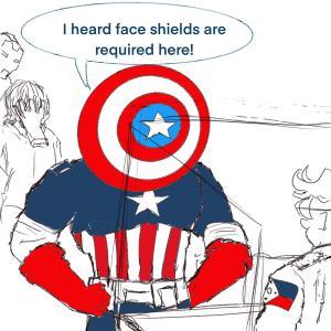 Face shield #sketchdaily 155/365