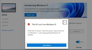 Oh Windows 11 will be a free update, yay! PC Health Check: Hold up. Looks like the problem is that my 6yo mobo doesnt have TPM, so definitely need to wait for the next pc upgrade