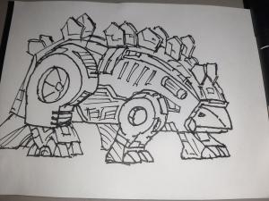 Dinobot Snarl #sketchdaily 182/365