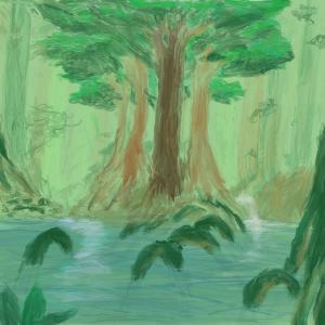 Rainforest #sketchdaily 189/365 (Correction: 186/365)