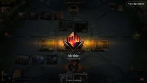 Hit an early in the month (for me anyway) Mythic rank on #magicarena early on a Monday morning, using UW Auras in Historic! Haven't hit mythic since before Strixhaven lol.