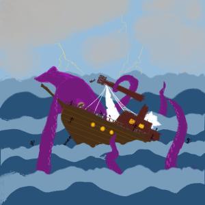 Kraken attack part 3 #sketchdaily 201/365 Previously, previously