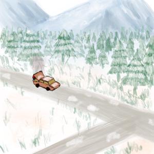 Car broke down #sketchdaily 204/365