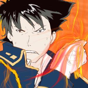 Roy Mustang #sketchdaily 205/365 I enjoyed this one and liked how it turned out, but it took me over an hour because I was playing with various #Procreate tools and brushes. Here's a timelapse: https://www.youtube.com/watch?v=OOYUkG1ac38