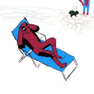 Beach laziness #sketchdaily 206/365