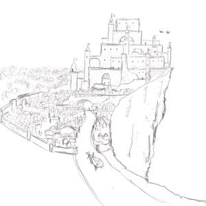 Castle town #sketchdaily 213/365 PHOTOS PLACEHOLDER