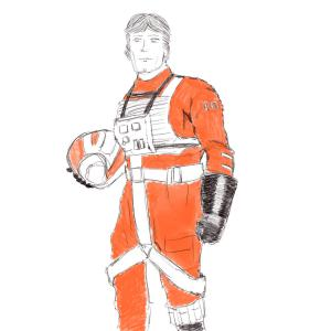 Rebel flight suit #sketchdaily 215/365 PHOTOS PLACEHOLDER
