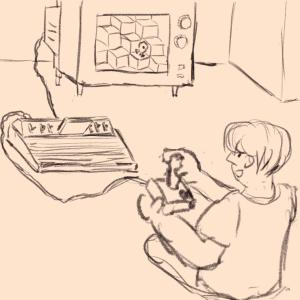 Old school gaming #sketchdaily 222/365 PHOTOS PLACEHOLDER